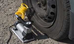 we'll check tyre pressure, horn and windscreen wipers plus all your electrics
